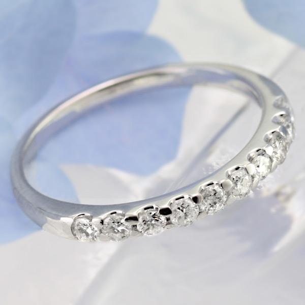 ダイヤ エタニティ リング 0.3ct プラチナ900 ハーフ エタニティ エタニティリング Diamond Eternity