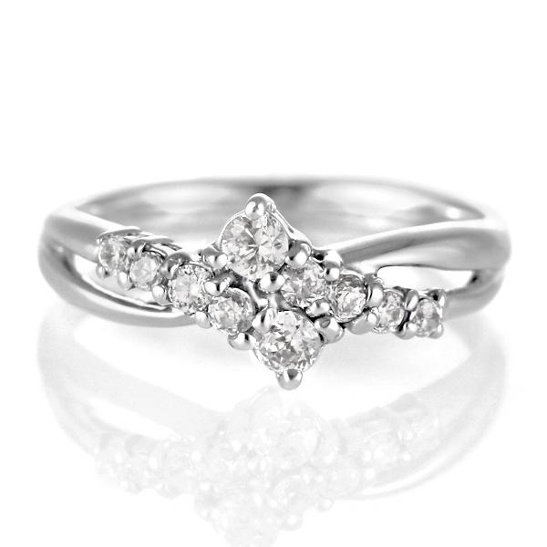 スイート エタニティ ダイヤモンド 10 個 ダイヤモンド リング ホワイトゴールド ダイヤモンドリング ダイヤモンド ラッピング無料 結婚 10周年記念【DEAL】