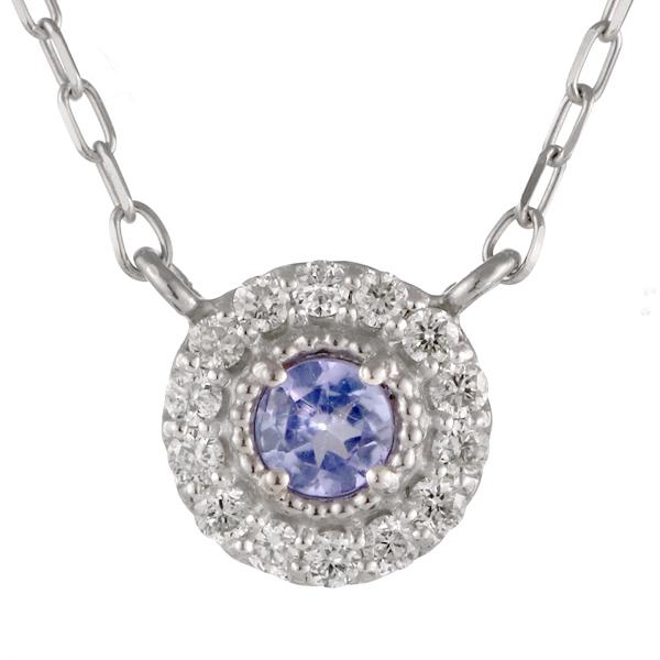 ダイヤモンド タンザナイト 18金 K18 18k 金ネックレス ネックレス 人気 誕生石 12誕生石【DEAL】 末広 スーパーSALE
