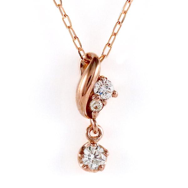 ピンクゴールド 10金 K10 ダイヤモンド シンプル ネックレス 金ネックレス カラット 人気 おすすめ プレゼント 【DEAL】