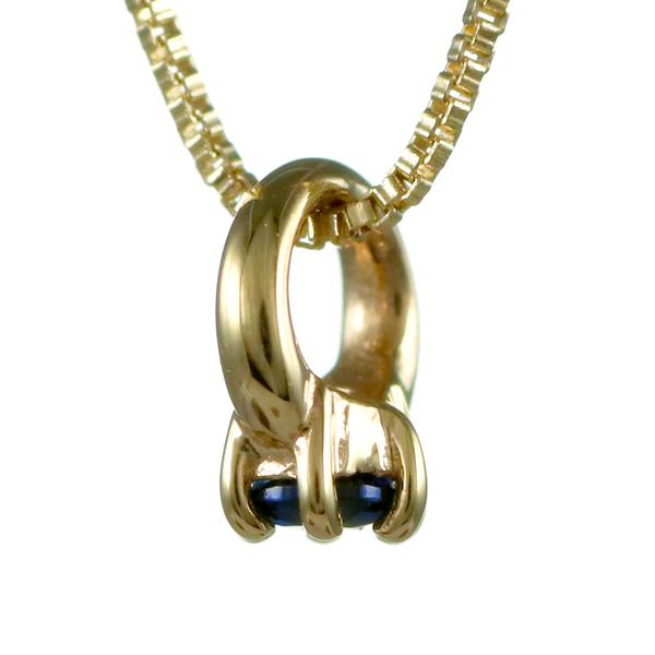 ネックレス ベビーリング 誕生石 yg サファイア サファイヤ 9月誕生石 立爪 出産祝い ギフト 末広 スーパーSALE