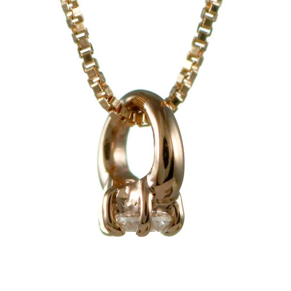 ネックレス ベビーリング 誕生石 pg ダイヤモンド 4月誕生石 立爪 出産祝い ギフト 末広 スーパーSALE
