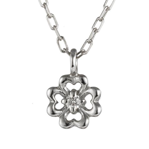 ネックレス プラチナ ダイヤモンド 花 フラワー 植物 pt 900 ネックレス 【DEAL】