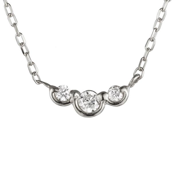 ネックレス プラチナ ダイヤモンド スリーストーン 現在 過去 未来 pt 900 ネックレス 【DEAL】 末広 スーパーSALE