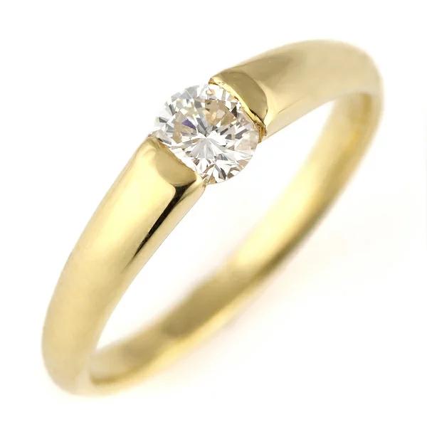 ダイヤモンド 指輪 ゴールド リング ダイヤ デザイン リング レディース 人気 鑑別書付 0.28ct 末広 スーパーSALE