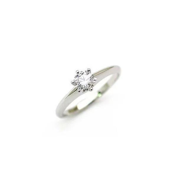 立爪 エンゲージリング ダイヤモンド ダイヤ プラチナ リング 婚約指輪 鑑別書付 0.28ct 末広 スーパーSALE