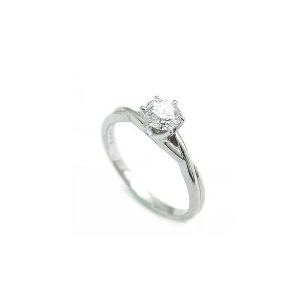 立爪 エンゲージリング ダイヤモンド ダイヤ プラチナ リング 婚約指輪 ソリティア 鑑別書付 0.28ct