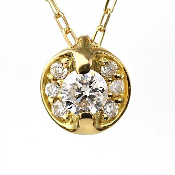 【今だけエントリーで全品5倍!5/18まで限定!】イエローゴールド ダイヤモンド ネックレス デザイン ネックレス ペンダント 7個 レディース ジュエリー【DEAL】