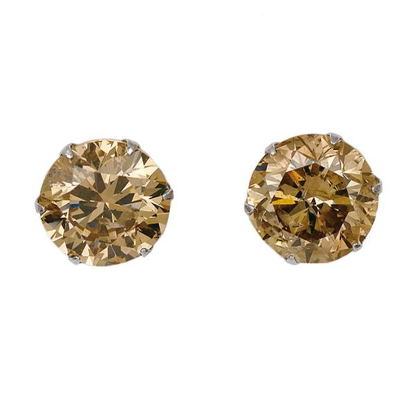 ピアス 一粒 ダイヤモンド ネックレス プラチナ ダイヤモンド ダイヤ 1カラット 合計2カラット ファンシーカラー【DEAL】