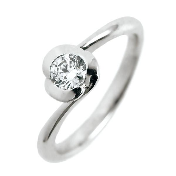 婚約指輪 プラチナ ダイヤモンド ダイヤ リング 0.3ct 天然石 フラワーモチーフ エンゲージリング 鑑定書【DEAL】