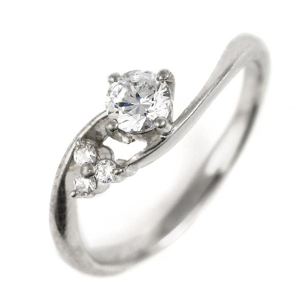 婚約指輪 プラチナ ダイヤモンド ダイヤ リング 0.3ct 天然石 サイドダイヤモンド エンゲージリング 鑑定書【DEAL】 末広 スーパーSALE