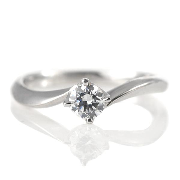 婚約指輪 プラチナ ダイヤモンド ダイヤ リング 0.3ct 天然石 シンプル エンゲージリング 鑑定書【DEAL】 末広 スーパーSALE