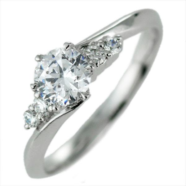 ダイヤモンド リング プラチナ 婚約指輪 0.3カラット 鑑別書 豪華 末広 スーパーSALE