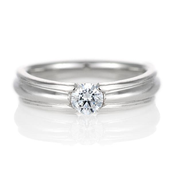 ダイヤモンド リング プラチナ 婚約指輪 0.3カラット 鑑別書 幅広【DEAL】