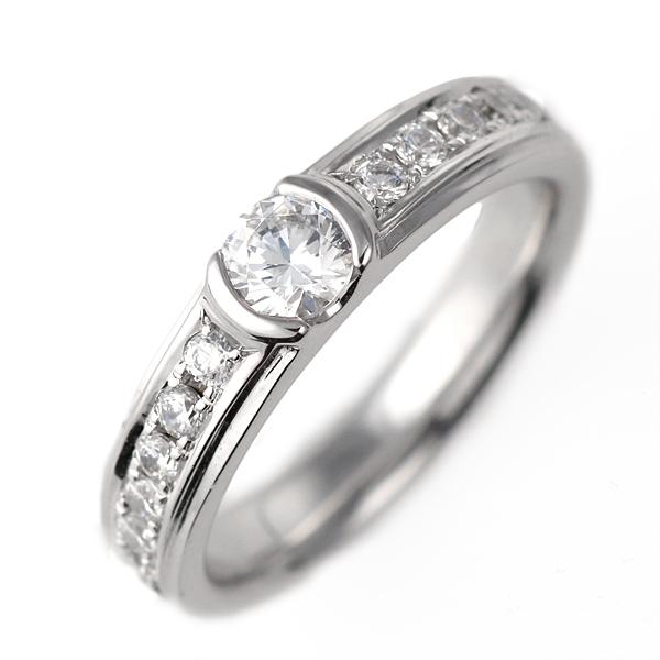 ダイヤモンド リング プラチナ 婚約指輪 0.3カラット 鑑別書 豪華【DEAL】