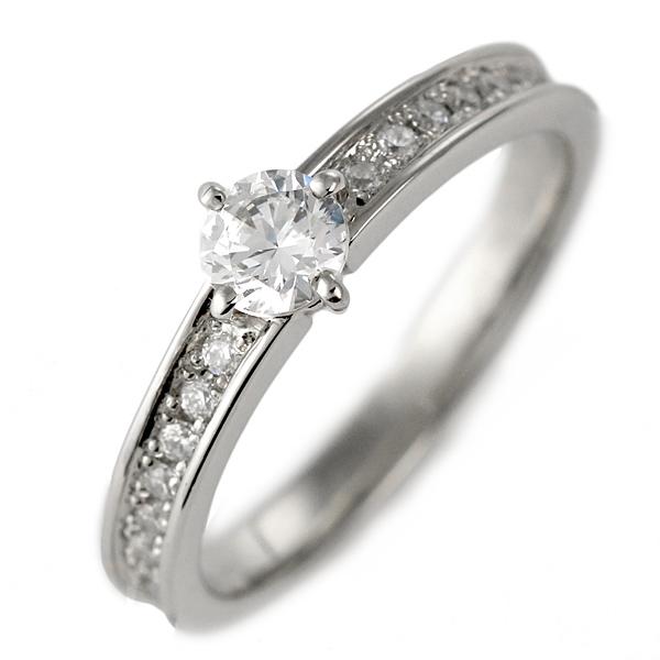 ダイヤモンド リング プラチナ 婚約指輪 0.3カラット 鑑別書 パヴェ【DEAL】