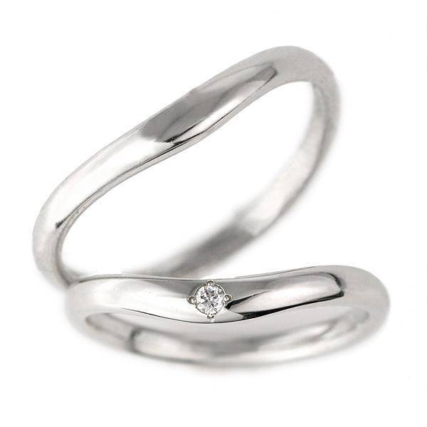 結婚指輪 2本セット プラチナ ダイヤモンド マリッジリング メンズ レディース【DEAL】