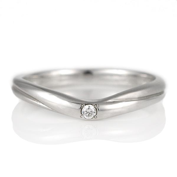 結婚指輪 プラチナ ダイヤモンド マリッジリング レディース