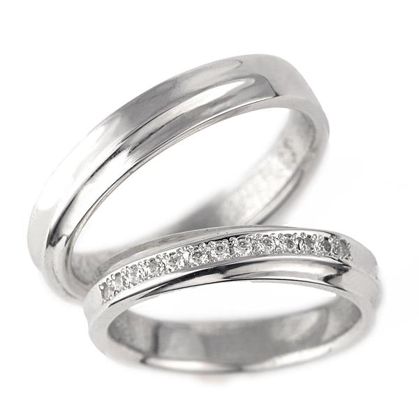 結婚指輪 2本セット プラチナ ダイヤモンド マリッジリング メンズ レディース 末広 スーパーSALE【今だけ代引手数料無料】