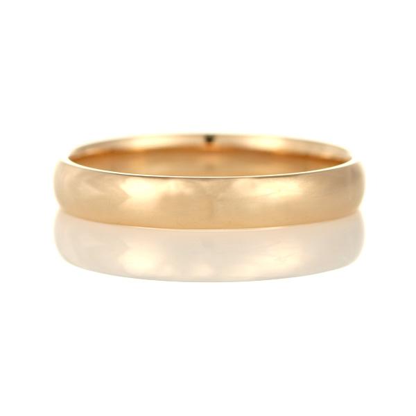 結婚指輪 マリッジリング ペアリング ストレート K18ピンクゴールド 甲丸