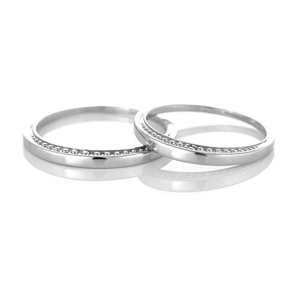 結婚指輪 マリッジリング ペアリング ストレート プラチナ900 ダイヤモンド 2本セット