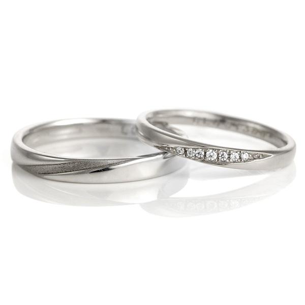 結婚指輪 プラチナ ペアセット マリッジリング ダイヤモンド 2本セット メンズ レディース