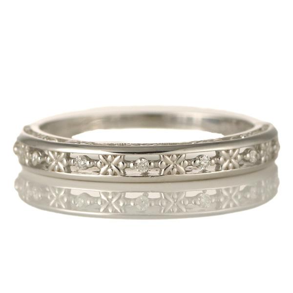婚約指輪 18金ホワイトゴールド 18金 金 K18 18k ダイヤモンド すかし リング 結婚【DEAL】
