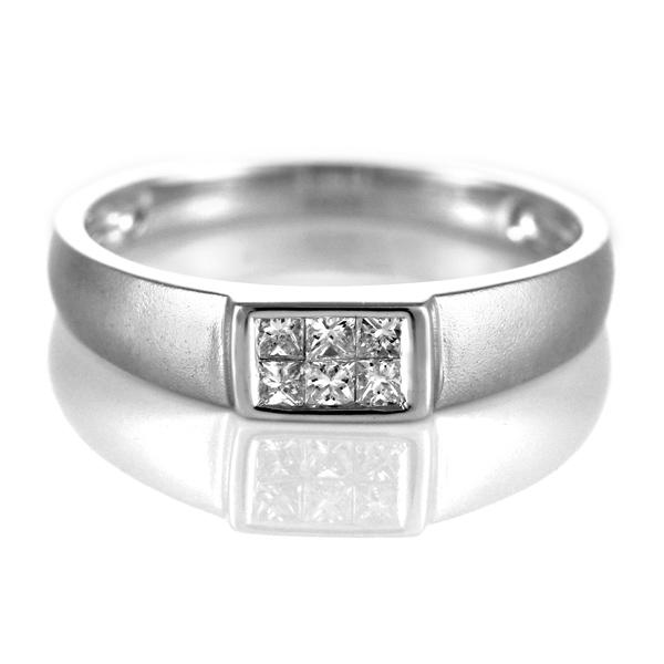 ダイヤモンド リング ダイヤモンドリング 指輪 ホワイトゴールド 4月 誕生石 ゴージャス