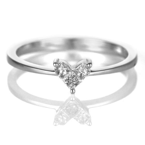 ダイヤモンド リング ダイヤモンドリング 指輪 ホワイトゴールド 4月 誕生石