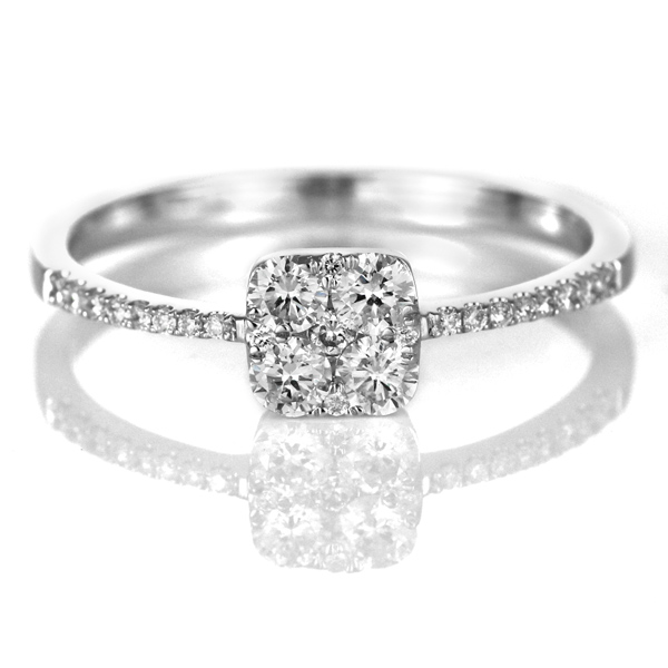 ダイヤモンド リング ダイヤモンドリング 指輪 ホワイトゴールド 4月 誕生石 末広 スーパーSALE