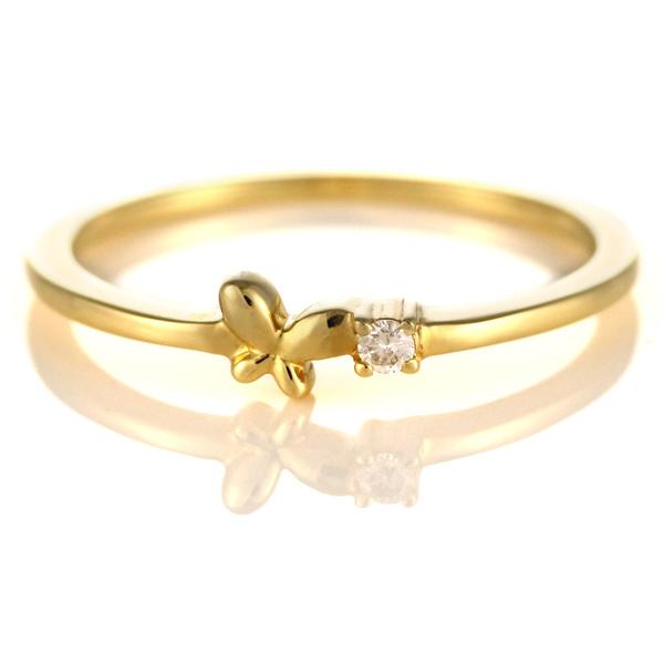 ダイヤモンド リング ダイヤモンドリング 指輪 イエローゴールド 4月 誕生石