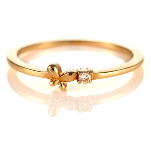 ダイヤモンド リング ダイヤモンドリング 指輪 ピンクゴールド 4月 誕生石【DEAL】