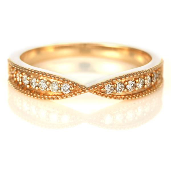 ダイヤモンド リング ダイヤモンドリング 指輪 ピンクゴールド 4月 誕生石 末広 スーパーSALE