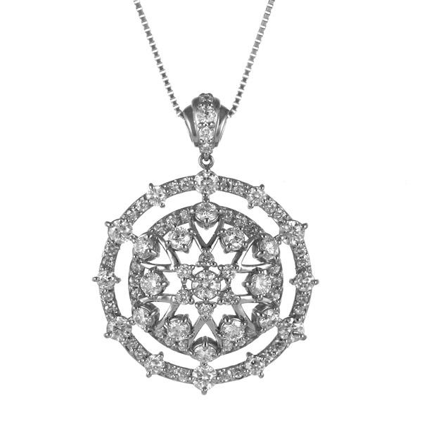 ダイヤモンド プラチナ ネックレス 豪華 レディース 女性 人気 ダイヤ【DEAL】 末広 スーパーSALE