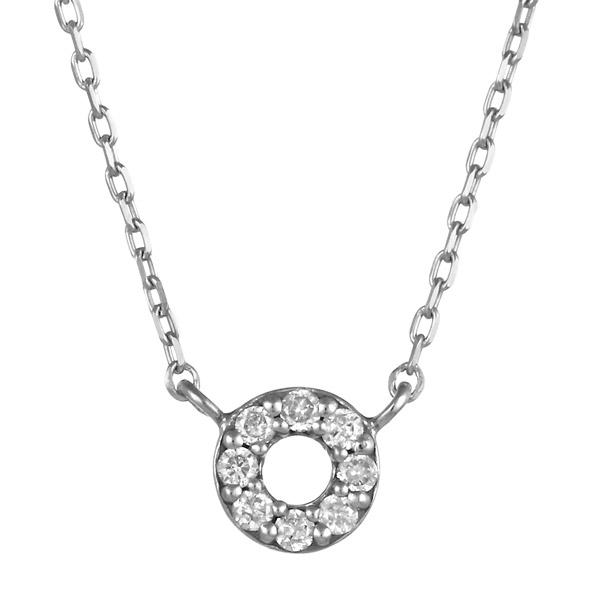 ホワイトゴールド 10金 K10 円 シンプル ダイヤモンド ネックレス 人気 おすすめ 【DEAL】 末広 スーパーSALE【今だけ代引手数料無料】