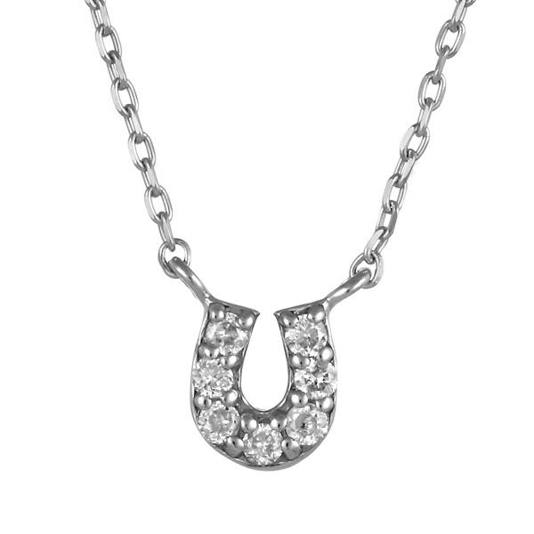ホワイトゴールド 10金 K10 バテイ 馬蹄 馬 ホース ダイヤモンド ネックレス 人気 おすすめ 【DEAL】 末広 スーパーSALE【今だけ代引手数料無料】