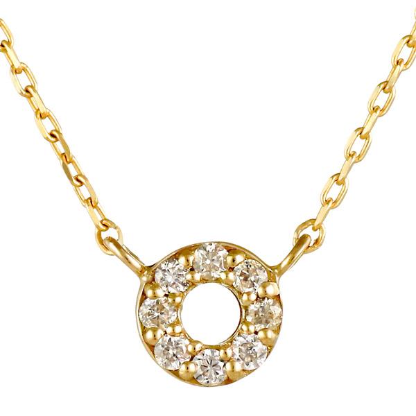 イエローゴールド 10金 K10 シンプル 円 ダイヤモンド ネックレス 人気 おすすめ 【DEAL】 末広 スーパーSALE【今だけ代引手数料無料】
