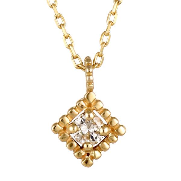 イエローゴールド 10金 K10 一粒 ダイヤモンド ネックレス 人気 おすすめ 末広 スーパーSALE【今だけ代引手数料無料】