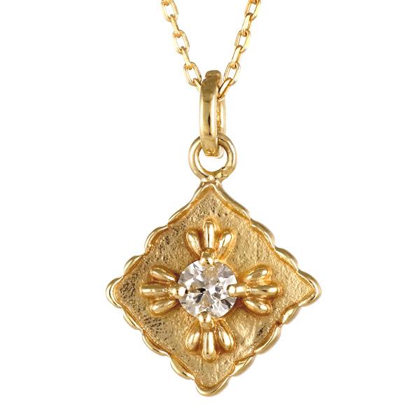 イエローゴールド 10金 K10 一粒 ダイヤモンド ネックレス 人気 おすすめ 【DEAL】 末広 スーパーSALE
