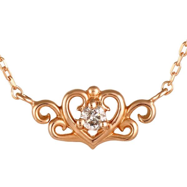 ピンクゴールド 10金 K10 ハート ダイヤモンド ネックレス 人気 おすすめ 【DEAL】 末広 スーパーSALE【今だけ代引手数料無料】