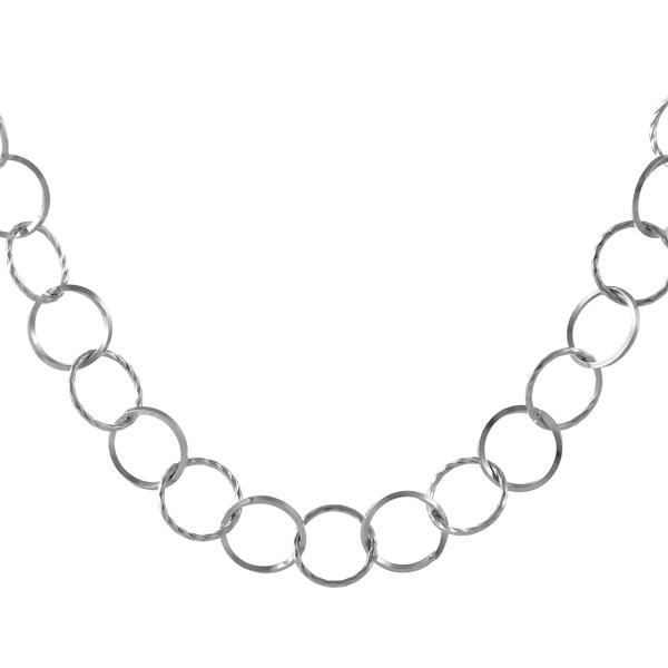 【今だけエントリーで全品5倍!5/18まで限定!】地金ネックレス k18ホワイトゴールドネックレスチェーンのみ 18金ネックレス イエローゴールド フープ デザインチェーン
