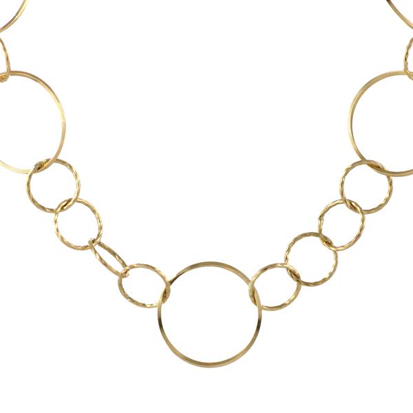 ネックレスチェーン 地金ネックレス 18kネックレスチェーンのみ 18金ネックレス イエローゴールド フープ デザインチェーン 末広 スーパーSALE