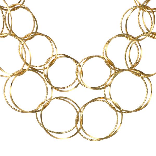 ネックレスチェーン レディース 地金ネックレス 18kネックレスチェーンのみ 18金ネックレス イエローゴールド フープ デザインチェーン 末広 スーパーSALE