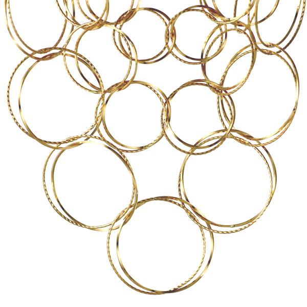 地金ネックレス 18kネックレスチェーンのみ 18金ネックレス イエローゴールド フープ デザインチェーン【DEAL】 末広 スーパーSALE