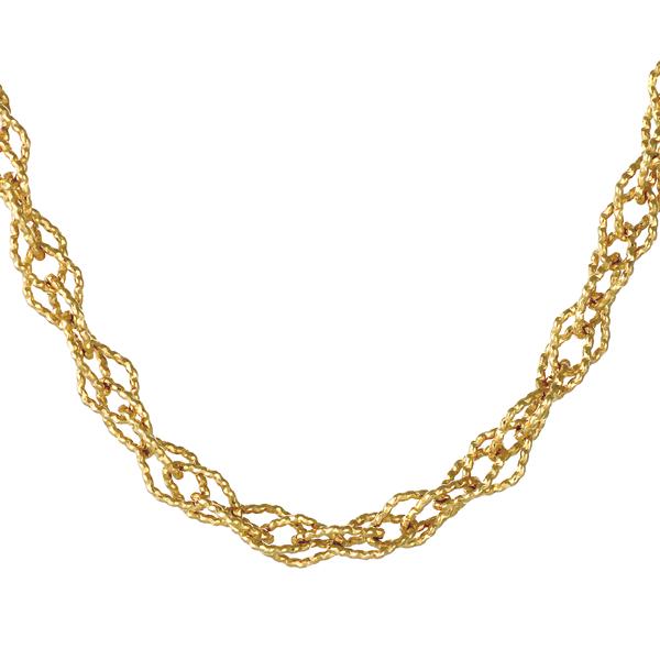 【今だけエントリーで全品5倍!5/18まで限定!】地金ネックレス 18kネックレスチェーンのみ 18金ネックレス イエローゴールド ダブルロサンジュ 菱形 デザインチェーン
