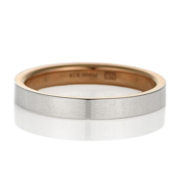 プラチナ リング ニナリッチ 指輪 マリッジリング ペア プラチナゴールド ストレート レディース 刻印無料