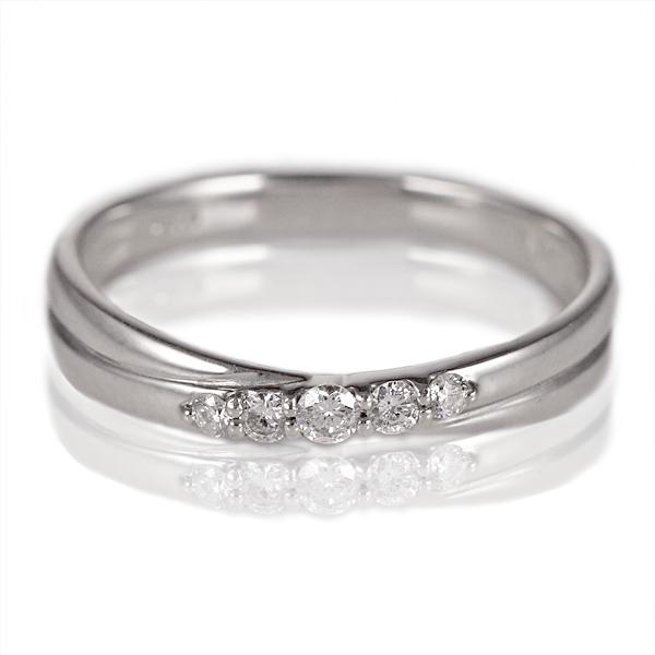 ダイヤモンド リング シンプルプラチナダイヤモンドリング プラチナ ダイヤ 指輪 5石 指輪 プラチナ900 ストレート レディース 人気 プレゼント