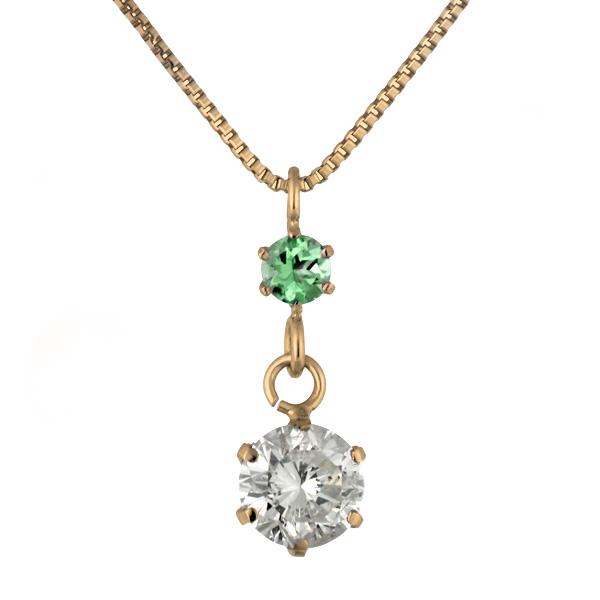 エメラルド ネックレス ペンダント ダイヤモンド ネックレス ゴールド 18金 K18 18k ダイヤモンド ペンダント ダイヤモンド ダイヤ 0.3カラット レディース エメラルド 誕生日プレゼントト 末広 スーパーSALE