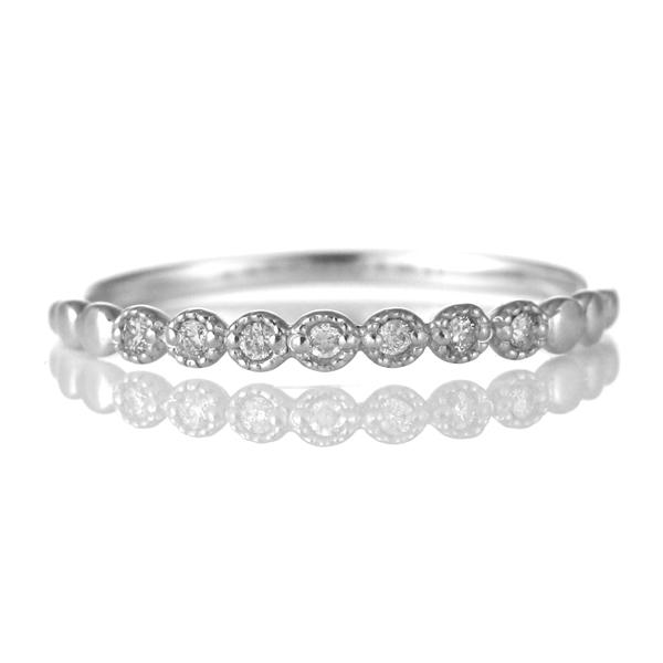 指輪 ダイヤモンド 18金 K18 18k 金 18K 18k ホワイトゴールド 天然ダイヤ デイリー カジュアル 【DEAL】