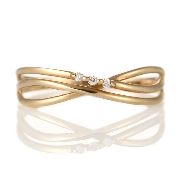 指輪 ダイヤモンド 18金 K18 18k 金 18K 18k ピンクゴールド 天然ダイヤ デイリー カジュアル【DEAL】